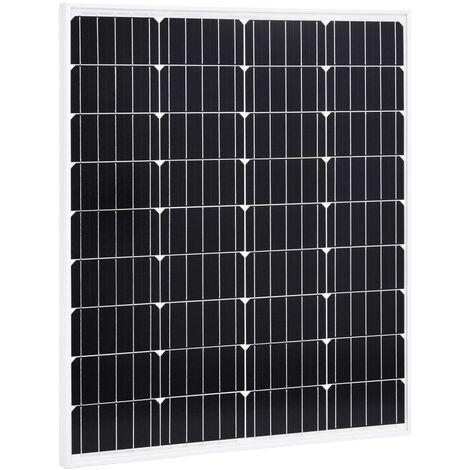 Panel solar monocristalino aluminio y vidrio de seguridad 80 W