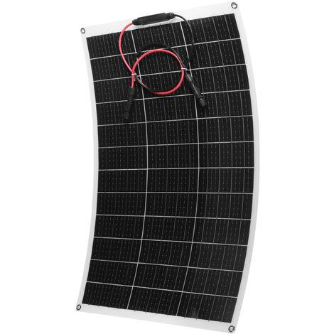Panel solar monocristalino flexible de 100W 18V para barco de camping