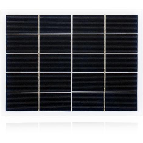 Panel solar policristalino 5V 3W, celula solar de silicio panel de energia solar de bricolaje
