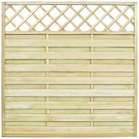 Panel valla de jardín con enrejado madera 180x180 cm