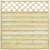 Panel valla de jardín cuadrado y enrejado madera FSC 180x180 cm