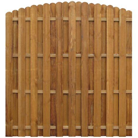 Panel valla de madera de pino impregnada 170x(156-170) cm