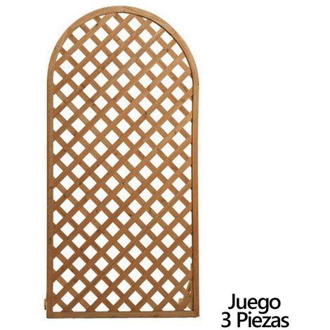 Paneles de celosias de madera 180 x 90 cm 3 piezas