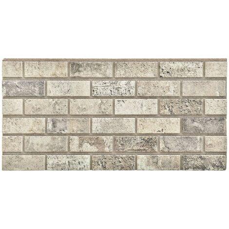Paneles de pared 3D con diseño de ladrillo arena 11 piezas EPS