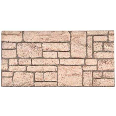 Paneles de pared 3D con diseño de ladrillo beige 11 piezas EPS