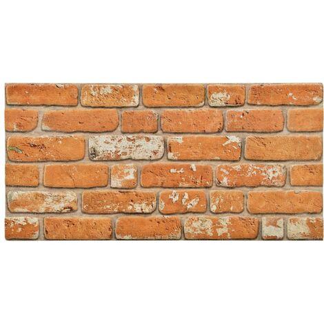 Paneles de pared 3D diseño de ladrillo marrón claro 11 pzas EPS