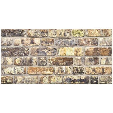 vidaXL Paneles de pared 3D diseño de ladrillo multicolor 11 piezas EPS - Multicolore