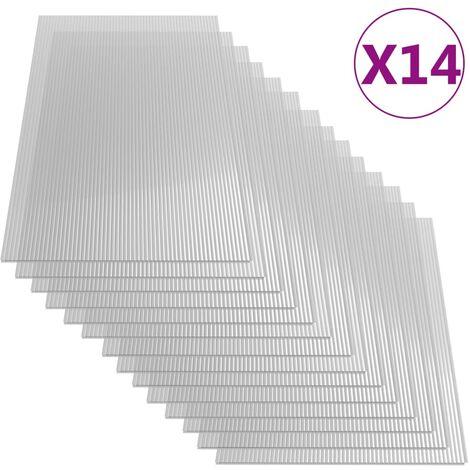 Paneles de policarbonato 14 unidades 4 mm 121x60 cm