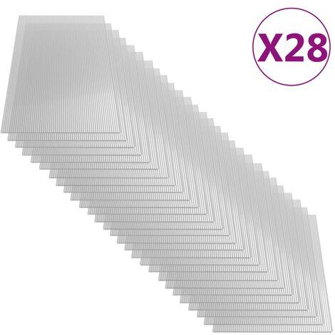 Paneles de policarbonato 28 unidades 4 mm 121x60 cm
