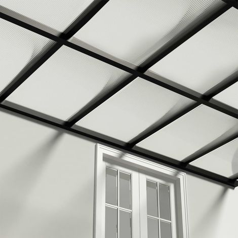 Paneles de policarbonato 4 unidades 6 mm 113x60,5 cm