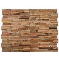 Paneles de revestimiento de pared 10 uds 1 m² de teca reciclada