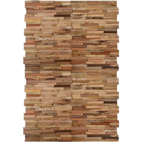 Paneles de revestimiento de pared 20 uds teca reciclada 2 m²