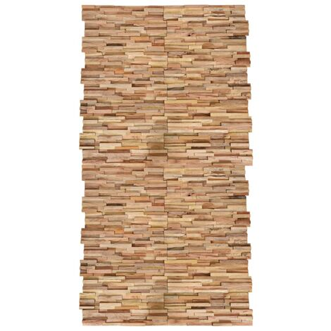 Paneles de revestimiento de pared 3D 20 uds teca maciza 2 m²