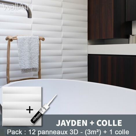 Paneles decorativos 3D Jayden Panel de pared + Pegamento WallArt