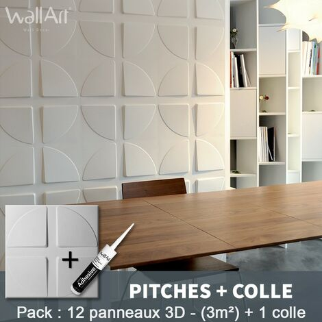 Paneles decorativos 3D Pitches Panel de pared + Pegamento WallArt