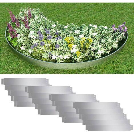 """main image of """"Paneles divisorios flexibles acero 10 uds galvanizado 100x15 cm - Plateado"""""""