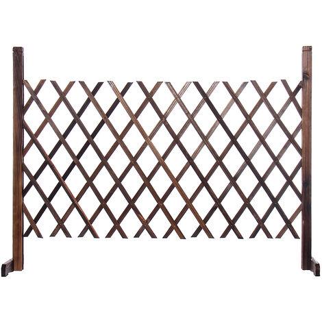 Paneles para valla Puerta para valla de madera Blanco 70cm