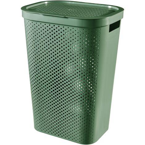 Panier à linge Curver Infinity dots vert 60L - 100% recycled