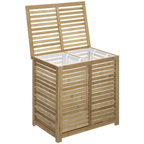 panier linge double sicela bambou 2meu panlind sicela. Black Bedroom Furniture Sets. Home Design Ideas