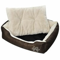 Panier chaud pour chien avec coussin rembourre XL