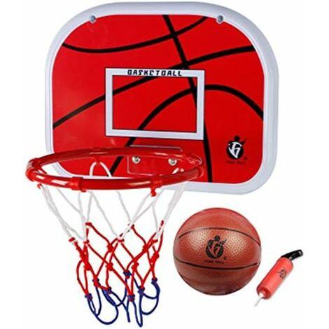 Panier de basket-ball intérieur pour enfants ensemble de jeu mini basket-ball planche à suspendre avec ballon et pompe pour enfants