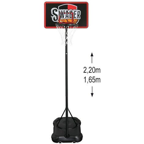 Panier de Basket Ball sur Pied - The Black Mamba 2, hauteur réglable 1.60 à 2.20 m