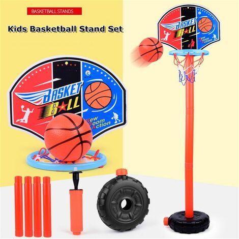 Panier De Basket Enfant Sur Pied Réglable De 45 à 110CM