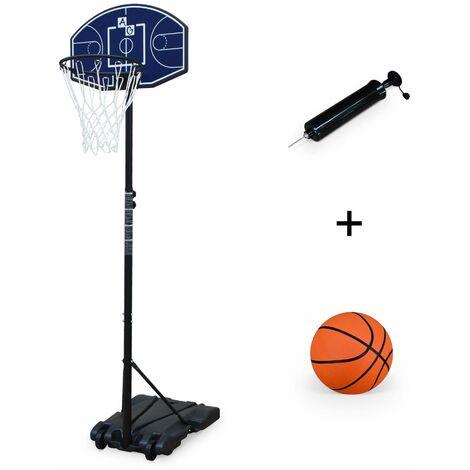 Panier de basket évolutif sur pied 2,1 m avec ballon et pompe, pied de basket ajustable