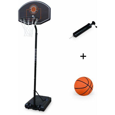 Panier de basket LEBRON, évolutif sur pied + ballon, de 2,5m à 3,05m, taille réglementaire