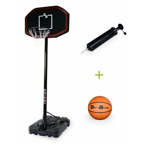 Panier de basket MICHAEL évolutif sur pied 3,05 m avec ballon, pied de basket ajustable, taille réglementaire