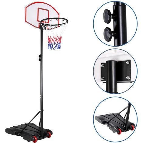 Panier de basket sur pied avec roulettes réglable hauteur 179 à 209cm mobile