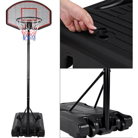 Panier de basket sur pied mobile avec roues - Hauteur réglable de 205 à. 310 cm