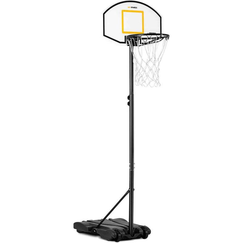Gymrex - Panier de Basket Sur Pied Pour Enfant Arceau ø39cm Intérieur Extérieur 178-205cm