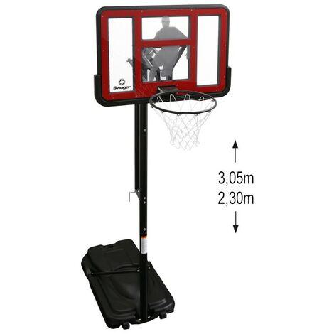 Panier de Basket Swager King Deluxe sur Pied, Mobile et hauteur réglable de 2.30m à 3.05m - Basketball