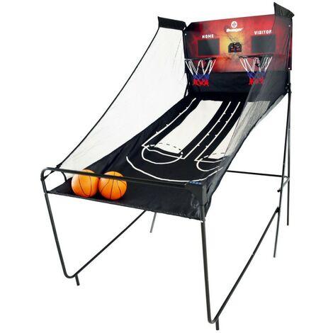 Panier de Basketball 1 à 4 joueurs - Double Shot Game - Jeu electronique d'Arcade pliable- 8 différents types de jeux- Fourni avec 2 ballons