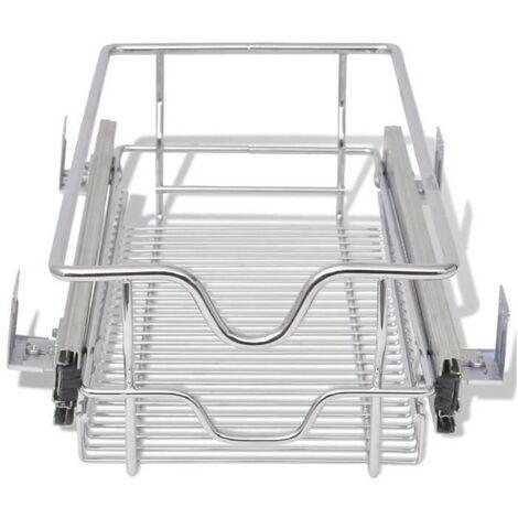 Panier de rangement à tiroir coulissant (avec rail de montage latéral de l'armoire de 45 cm)