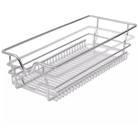 Panier de rangement pour tiroir coulissant 2 pièces (avec rail de montage latéral de l'armoire de 30 cm)