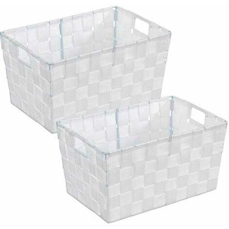 Panier de salle de bains Adria S, blanc
