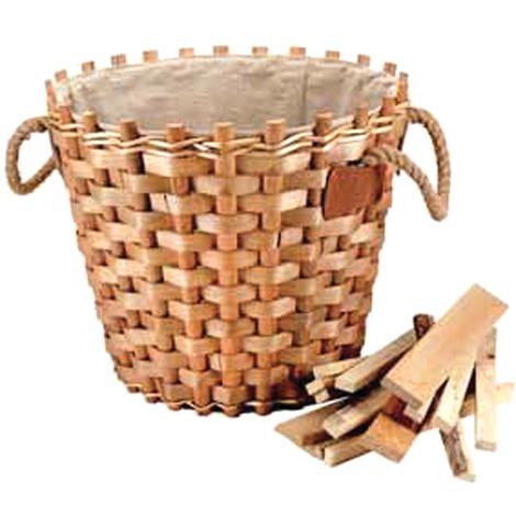 Panier d'osier osier intérieur pour bois de cheminée maison P555777