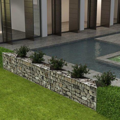 Panier gabion/ Jardiniere/ Parterre sureleve Acier 300x30x50 cm