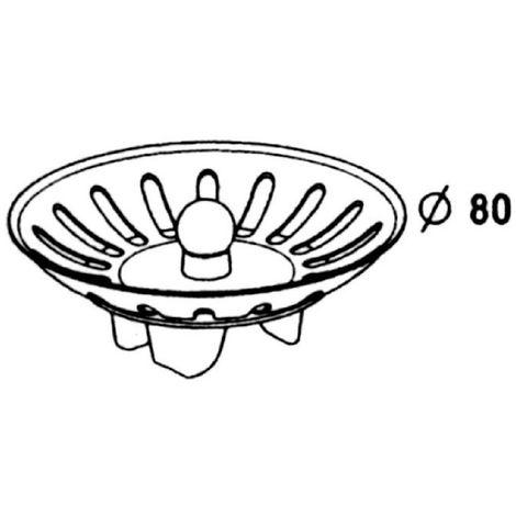 Panier inox - Ø 78 mm - Nicoll