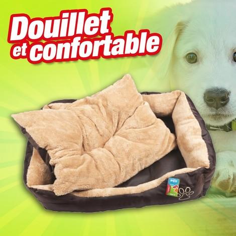 Panier pour chien avec coussin