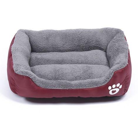 Panier pour chien Coussin Tapis en peluche pour Teddy Dog, couleur chaud, quatre saisons, pour chien, taille: XL, 80 × 60 × 16 c