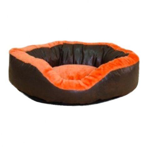 Panier pour chien en peluche Topmast 80 x 80 cm - Orange