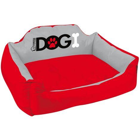 Panier pour chien rembourré Dogi - Taille XL - Rouge