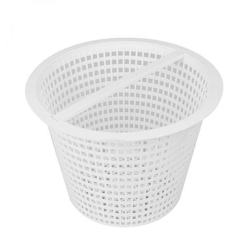 Panier rond pour skimmer de piscine - Diam 18.5 cm - Blanc - Linxor