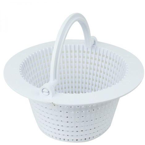 Panier rond pour skimmer de piscine hors sol - Diam 16 cm - Blanc - Linxor