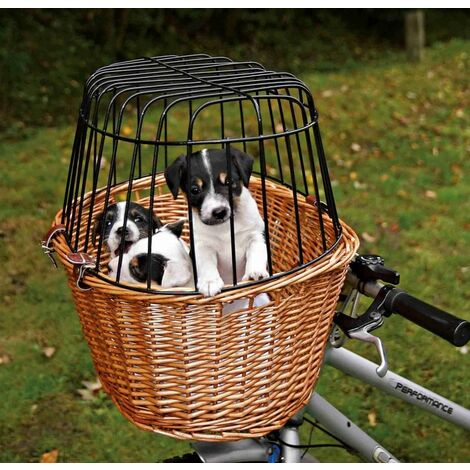 Panier vélo avec grille - osier