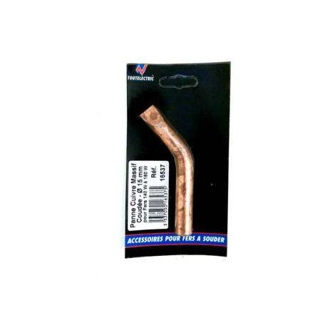 Panne cuivre massif coudée 15mm