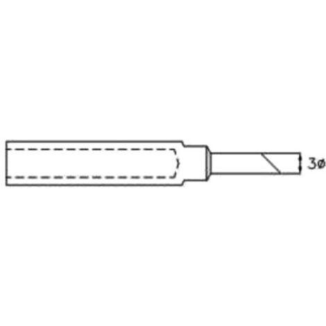 """PANNE DE FER À SOUDER CMS - SABOT 45° - Ø 0.3 MM (1/8"""") VELLEMAN BITC211"""